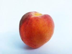 Ansiktsbehandling med persika
